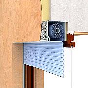 Монтаж роллет со встроенным коробом с частичным перекрытием проема