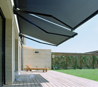 Локтевая маркиза - защита от солнца и дождя